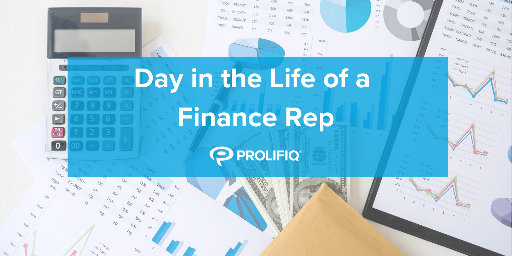 Day in the Life of a Finance Rep Infographic