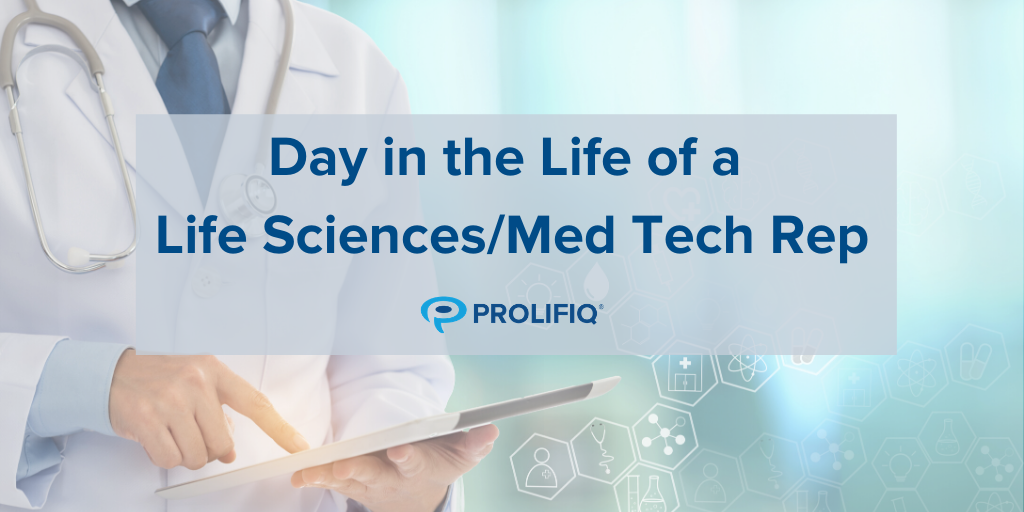 Day in the Life of a Life Sciences/Med Tech Rep Infographic