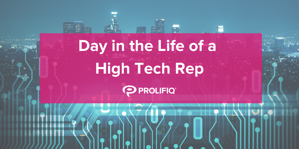 Day in the Life of a High Tech Rep Infographic
